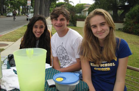 Three Santa Monica/Malibu Unified School District students (Chloe Abarbanel