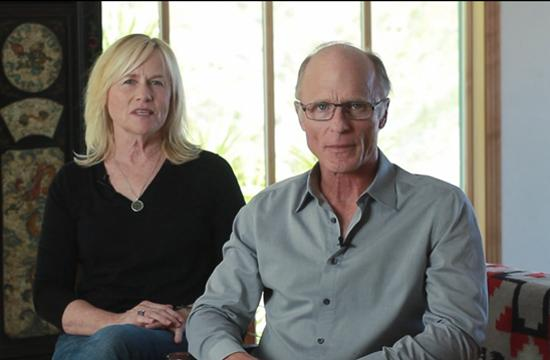 Ed Harris and Amy Madigan seen in a video raising awareness of the Santa Monica-Malibu Unified School District funding through the The Save Our Schools (SOS) campaign.