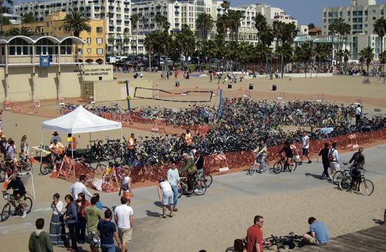 Bike Valet at the Green Apple Festival.