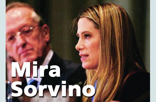 Mira Sorvino addresses the United Nations.