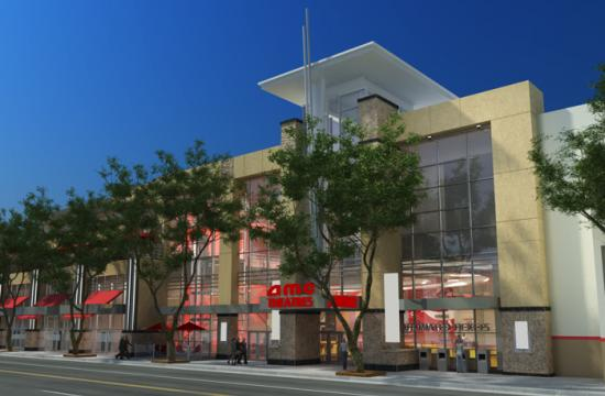 A rendering of the proposed AMC theater that would be located on 4th Street