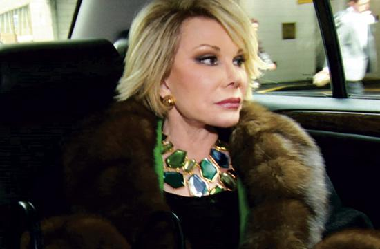 "Joan Rivers as seen directors Ricki Stern adn Anne Sundberg's documentary ""Joan Rivers: A Piece Of Work"" which takes more than a face value look at the comedian/entertainer who has been able to stay relevant for around four decades."