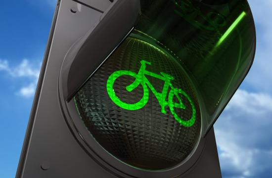 A bicycle Lane traffic light.