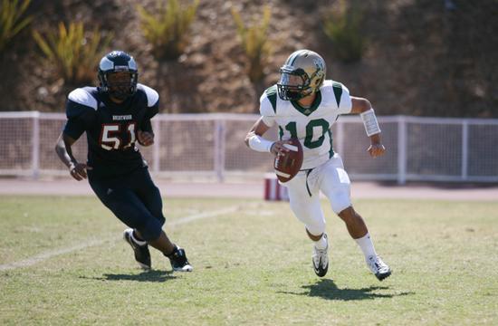 St. Monica High School senior quarterback Matt Partyka.