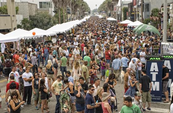 The Abbot Kinney festival in Venice.