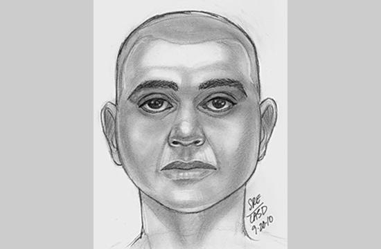 Police rendering of a wanted suspect in a Sept 19 sexual assualt. He was described as a 40-year-old Latin male