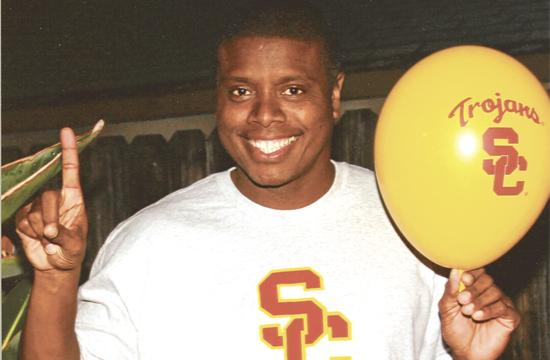Tony Todd at USC where he played football before an injury.