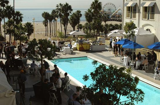 Overlooking the pool at Loews Beach Front Hotel during the American Film Market on Friday