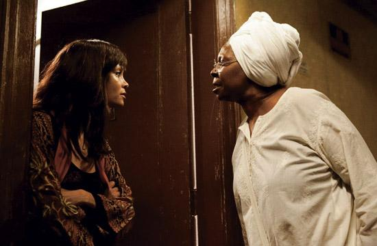 """Thandie Newton and Whoppie Goldberg star in """"For Colored Girls""""."""