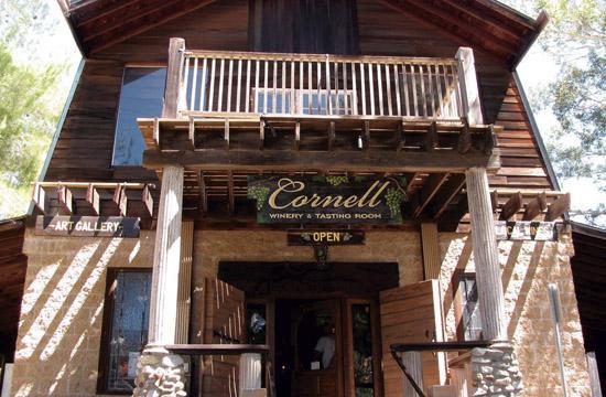 The very quaint Cornell Winery Tasting Room.