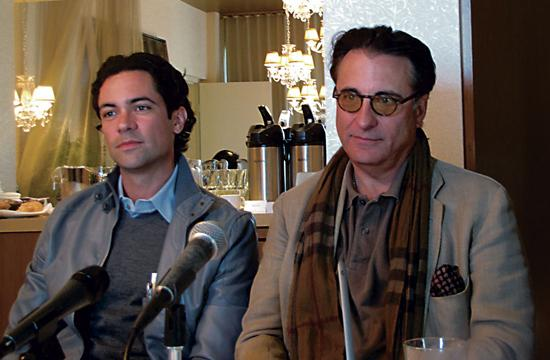 Danny Pino and Andy Garcia at a recent press conference.