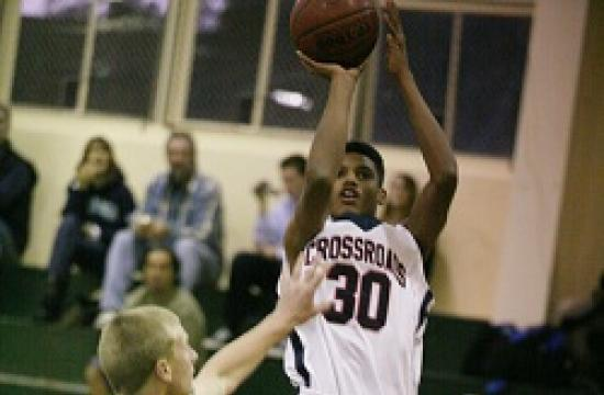 Crossroads sophomore Gyasi Williams scored 27 points to help his team defeat Pacifica Christian on Nov. 29.