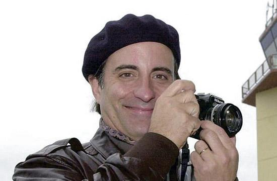 Andy Garcia takes time to photograph during his Dec. 7 visit to Incirlik Air Base