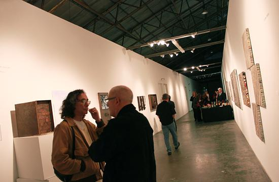 Guests admired the works of Linda Ekstrom and Giuseppe de Pero