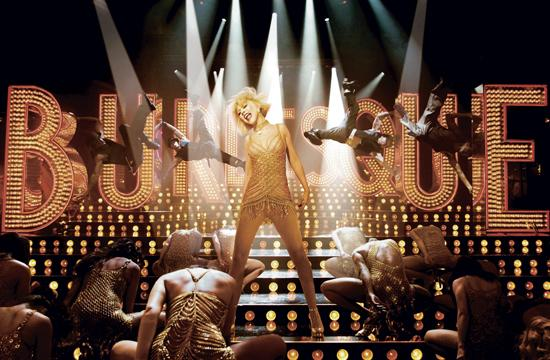 "Christina Aguilera stars as a diva in training in ""Burlesque"""