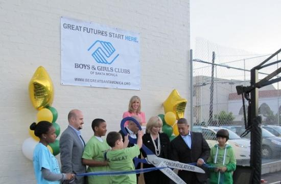 The ribbon-cutting for the Boys and Girls Club's new basketball courts on the site of the former skate park took place Dec. 16.