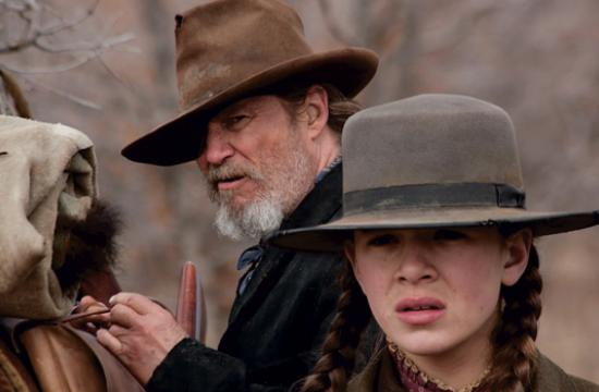 Jeff Bridges and Hailee Steinfeld ride tough in True Grit.