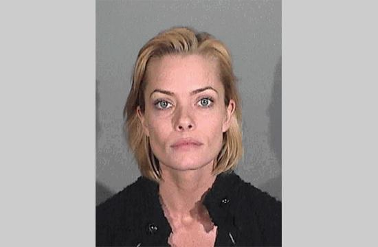 Actress Jamie Pressly's booking photo after being arrested for Driving Under the Influence in Santa Monica.
