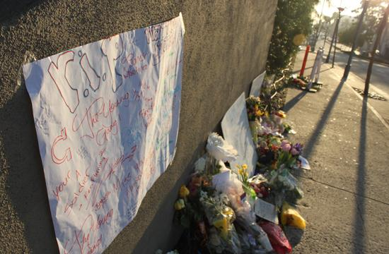 A memorial of mementos and messages has budded where Samohi Freshman Matthew Mezza jumped to his death from the top floor of the Sheraton Delfina Hotel on Pico Boulevard