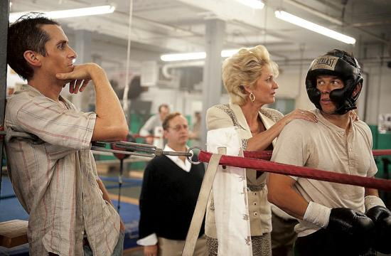 "Christian Bale as Dicky Eklund and Melissa Leo as Alice Ward mismanage Mark Wahlberg's character Micky Ward's career in the ""The Fighter."""