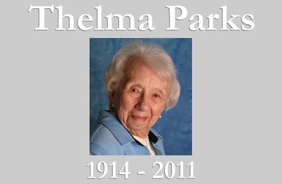 Thelma Parks Obituary Graphic