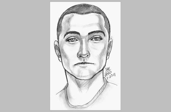 An artist's sketch of a suspect wanted by the Santa Monica Police Department in connection with an attempted kidnapping of a juvenile on Jan. 24.