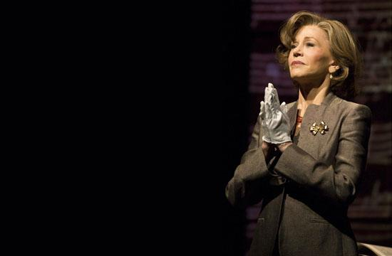 "Jane Fonda in ""33 Variations"" on stage at the Ahmanson Theatre."
