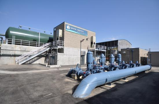 A view of the new Santa Monica Water Treatment Plant facility.