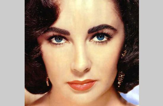 Elizabeth Taylor in her youth.