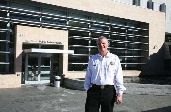 Chief Scott Ferguson outside the Public Safety Facility building that houses the SMFD administrative offices.