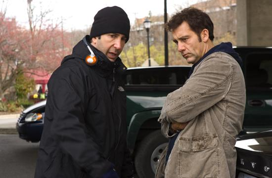 L–R: Director/ Producer David Schwimmer with with Clive Owen