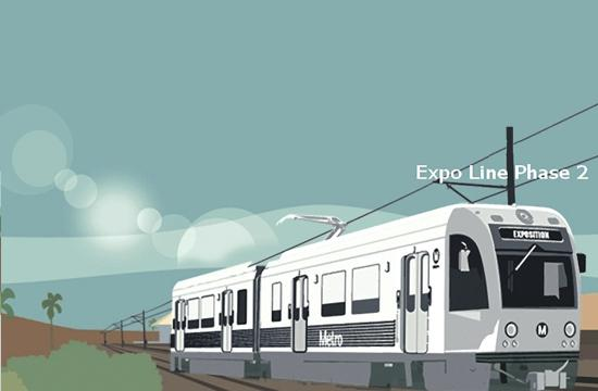Concept/Promotional Art for the Phase Two of the Exposition Light Rail.