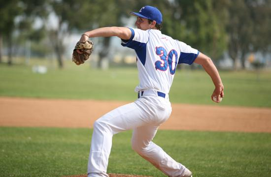 Crossroads pitcher Max Robinson throws a pitch against No. 8 Paraclete on Tuesday.