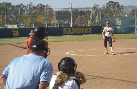 Senior Natalie Abel gets one of her 11 strikeouts against Beverly Hills in the Lady Vikings' 15-0 victory on Thursday.