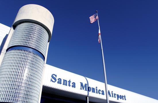 The main office of the Santa Monica Airport at 3223 Donald Douglas Loop South.