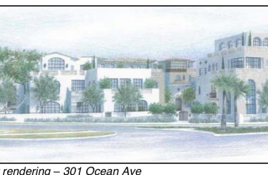 Current proposed project rendering for 301 Ocean Avenue