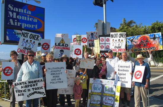 Concerned Residents Against Airport Pollution (CRAAP) protest on Earth Day last week.