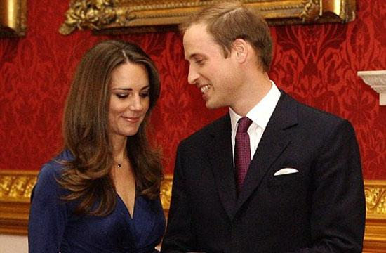 Prince William and his fiance/wife-to-be Kate Middleton