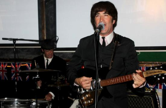 A Beatles tribute band played at Ye Olde King's Head Friday night.