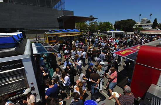 The audience sampled food from six food trucks at the Global Street Food event on May 1.