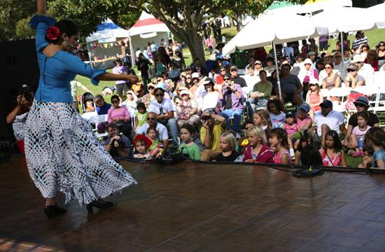 Clarita and the Arte Flamenco Dance Theatre Company performed folk dances from Spain at the 2010 Santa Monica Festival at Clover Park on Saturday