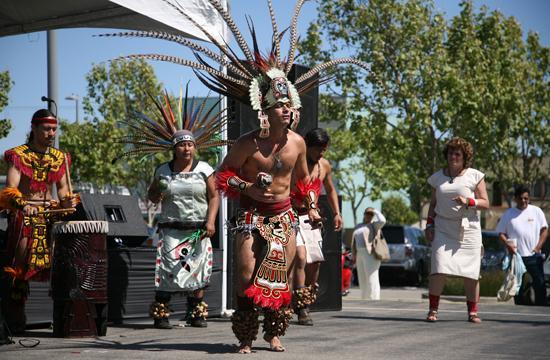 Mictlanxiucoatl- Danza Azteca performed at the Cinco de Mayo Fiesta at Virginia Avenue Park on Sunday