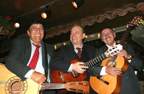 Musicians who serenade diners at La Cabana restaurant.