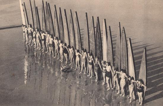 Santa Monica Paddleboard Club Members in 1941.