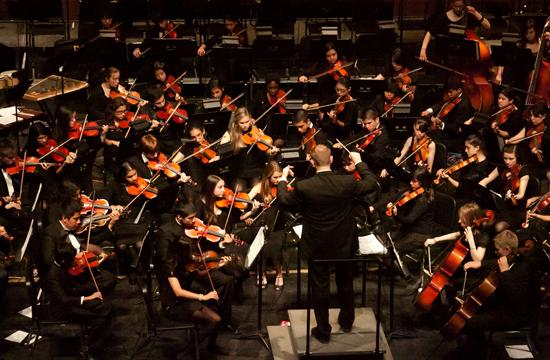 """The 2011 Santa Monica High School Orchestra opens up Tuesday's Pops Concert with John Williams' """"Jurassic Park"""""""