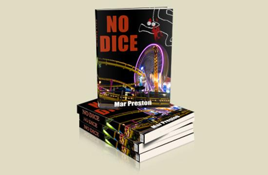 No Dice is a political murder mystery set in Santa Monica. The author is Mar Preston.