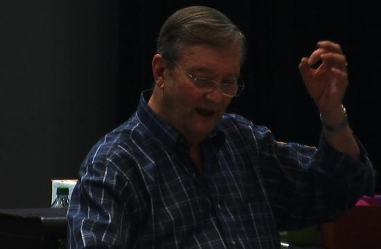 On Sunday SMC choral conductor Jim Smith will lead his first SMC Concert Chorale in almost a year after a serious back injury.