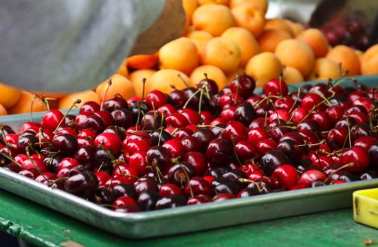 Local cherries are nearing the end of their season.
