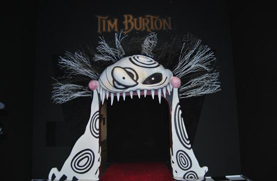 The main entrance to the Tim Burton exhibition at the L.A. County Museum of Art
