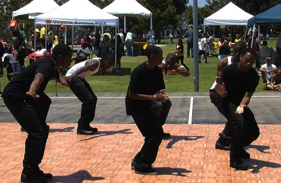 The Tri-A Steppers performed at the annual Juneteenth celebration on Saturday.